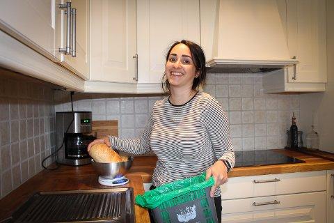 Grunn til å smile: Få brød går i søpla hos Amy Rachlew etter matsvinneksperimentet.