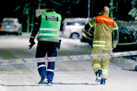 SKEDSMO  20181207. Politiet pågrep fredag en person de mener står bak bomben som ble sendt til politistasjonen i Ski onsdag. Mannen ble pågrepet ved 15.30-tiden fredag på Skedsmo senter. Foto: Fredrik Hagen / NTB scanpix