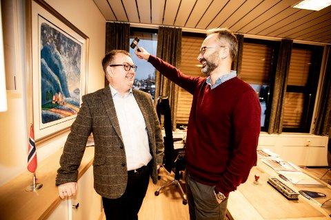 Begge vil styre Lillestrøm kommune: Kjartan Berland (H) blir slått av Jørgen Vik (Ap) i ny meningsmåling.