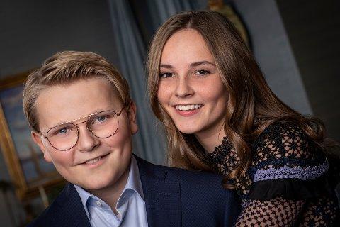Oslo  20181122. Bilde av prins Sverre Magnus og prinsesse Ingrid Alexandra, publisert i anledning prinsens 13-årsdag, 3.desember. Foto: Julia Naglestad/Det kongelige hoff / NTB scanpix