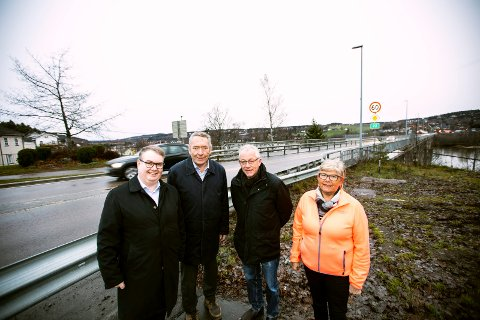 Fra v: Kjartan Berland, Nils Åge Jegstad, Arvid Mytting og Laila Gjestad.
