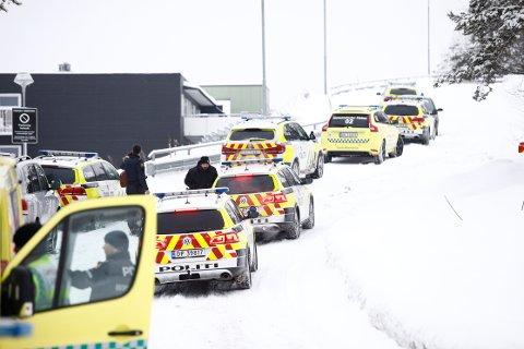 En person er skutt på Bjørndal i Oslo. Foto: Audun Braastad / NTB scanpix