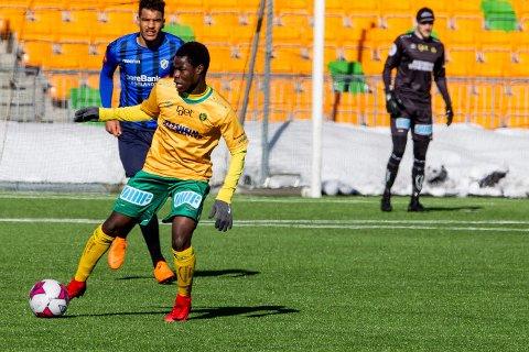 DEBUT: Eric Kitolano debuterer for Ull/Kisa i 1. divisjon mot Jerv i Grimstad.