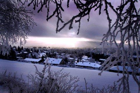 KULDA SETTER INN: Det blir en kald helg på Romerike. Men ikke så kald.