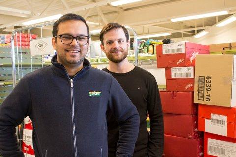 Satser: Butikksjef Sheheryar Akbar og eier Rune Smådal mener det er et stort marked for matbutikk på Fjerdingby.