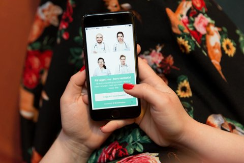 MOBILLEGETIME: Tjenesten KRY er en av flere aktører som tilbyr legetime på mobilen. Legeforeningen er imidlertid skeptisk, og mener det er svært begrenset hva legene kan hjelpe til med over mobil. Foto: Paul Weaver