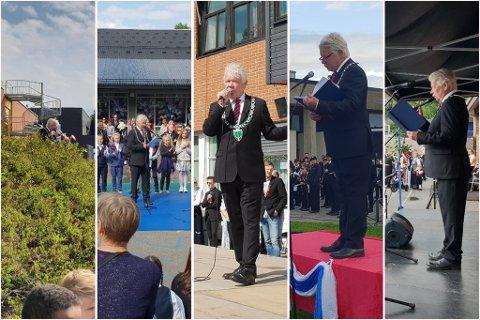 HEKTISK DAG: Rælingen-ordfører Øivind Sand gjennomførte intet mindre enn fem taler i løpet av fire timer på 17. mai.
