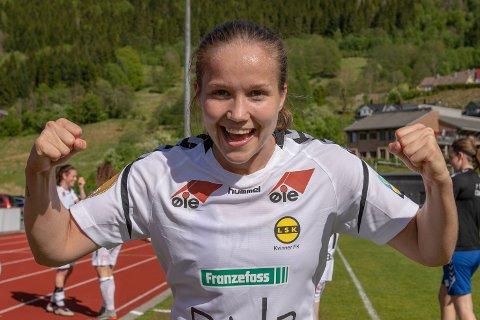 AVGJORDE – IGJEN: Guro Reiten gjorde som hun har fått for vane å gjøre. Avgjorde kampen til fordel for LSK Kvinner.