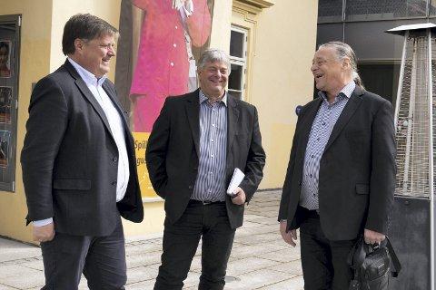 Storsatsing: Lars Otto Ullereng (t.v.) og Robert Skrolsvik er stolte over samarbeidet med Anders Eljas. FOTO: ANNE MERETE RODEM