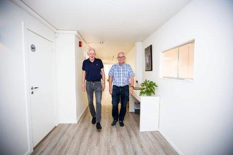 MYE Å GJØRE: Leif Roar Falkum (t.v.) og Per Johannessen bokfører et svært godt år for Ressursklinikken AS.