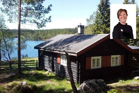 FAVORITT: Råbjørnhytta i Nannestad trekkes fram som en hytteperle på Romerike av Turistforeningens Kari Merete Horne.
