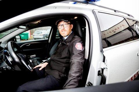 EKSTREMT: Brannsjef John Arne Karlsen i Øvre Romerike brann- og redning har aldri opplevd lignende tilstander. Foto: Tom Gustavsen