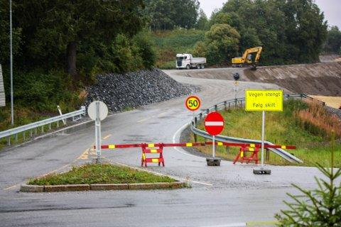 HIT, MEN IKKE LENGER: Statens vegvesen utbedrer strekningen mellom Engelstadkorset og Nygårdstoppen i Nannestad.