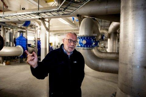 – VANN UT SEPTEMBER: Daglig leder i Univann, Jostein Skjefstad, sier at ved hjelp av sparetiltakene har Ullensaker og Nannestad drikkevann ut september.