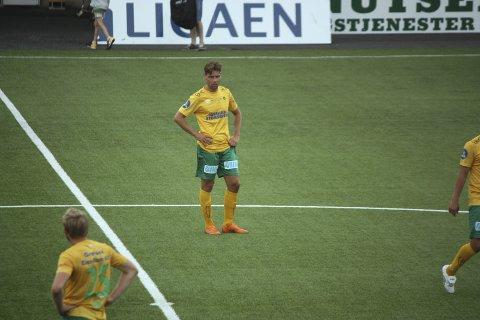 OPPGITT: Martin Torp (t.v.) og Ole Kristian Langås var frustrerte etter at Ull/Kisa tapte to poeng mot Florø.