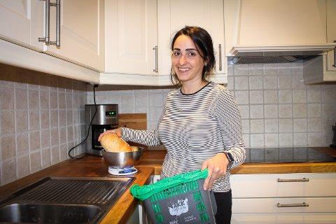 Sjokk: Amy Rachlew har i to uker veid maten hun har kastet. Resultatet var nedslående.