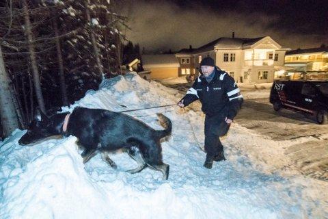 PÅ HEMMELIG ADRESSE: Vekter og hundefører Erlend Laupsa med hunden Nike, som han nå holder skjult i frykt for at politiet skal avlive den.
