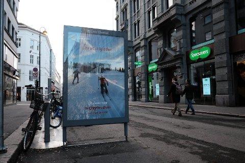 2019: Hvor blei det av skiføret? Tørre gater og plussgrader i Oslo på dette bildet tatt på årets første dag. Foto: Trond Lepperød (Nettavisen)