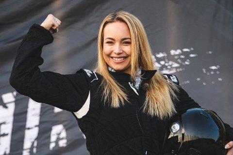 GLAD I FART OG SPENNING: Heidi Kristine Bjarmann har vært glad i lysen av motor fra hun var liten.
