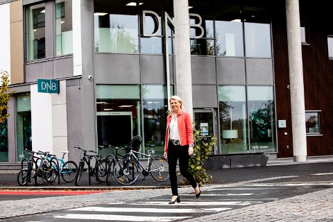 TROR PÅ BYEN: Kjerstin Braathen, toppsjef i DNB, mener hjembyen Lillestrøm er i ferd med å bli et mer aktuelt lokaliseringsalternativ for store bedrifter på flyttefot. (Foto: Tom Gustavsen)