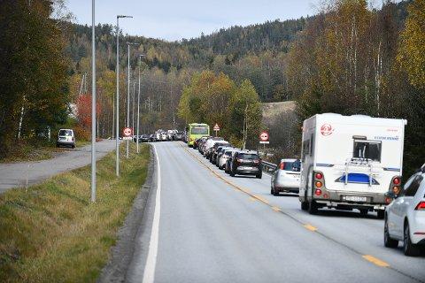 KØ: Politiet fikk inn melding om en trafikkulykke i Nittedal klokka 13.33 lørdag.