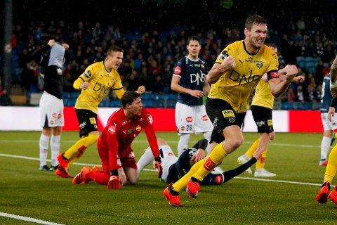 DRAMA: Frode Kippe jubler for sin 2-2-scoring på Marienlyst Stadion i fjor høst.