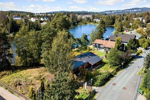 NORSK BASE: Denne tomten i Lørenskog blir etter alt å dømme Joshua Kings base i Norge.