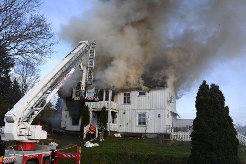 Brann i bolig i KIrkebygda.
