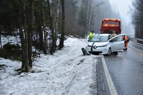 USKADD: Mannen slapp skader etter hendelsen, men ble fratatt førerkortet på stedet.