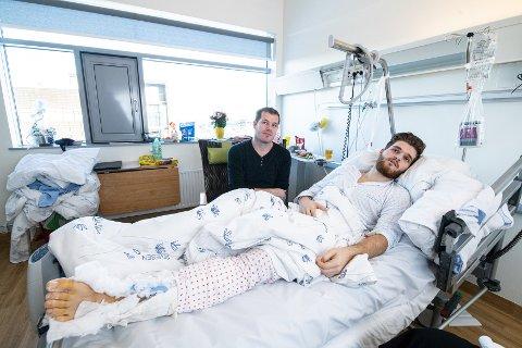 Ventetiden: Shaban Kadriu var den første i familien som fikk se sønnen Lirik på sykehuset etter fallet på sju meter. – De tre nettene han sov, så fikk ikke jeg sove et eneste minutt, beskriver han om ventetiden etter arbeidsulykken.