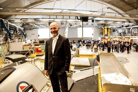 ENDRER STRUKTUREN: Adminstrende direktør i  Kongsberg Aviation Maintenance Services. Atle Wøllo.