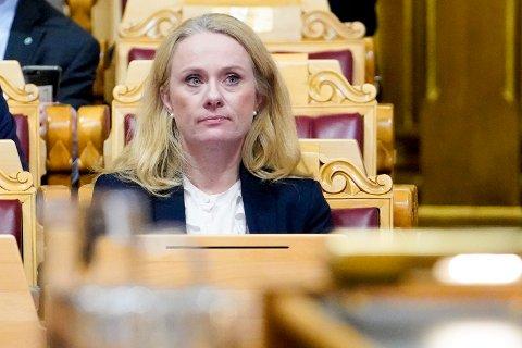 Arbeids- og sosialminister Anniken Hauglie (H) i Stortinget nylig. Foto: Fredrik Hagen / NTB scanpix