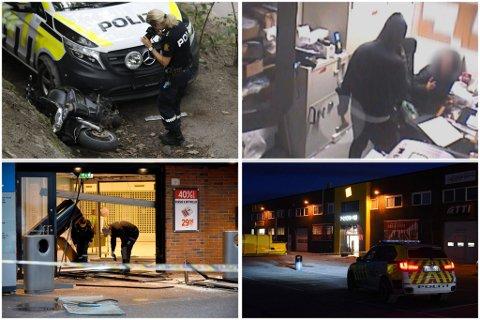 RAN OG SJOKKBREKK: Disse fire hendelsene – to grove ran og to forsøk på grove tyverier – mener politiet den svenske 30-åringen står bak.