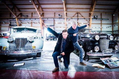 LOVER COMEBACK: Selv om det i år ikke blir arrangert Classic Car Show, lover arrangørene, Hans Hallbauer (t.v.) og Bjarne Reistad å komme sterkere tilbake.