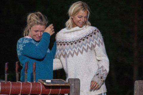 VANT: Tiril Sjåstad Christiansen vant over Kathrine Sørland i Farmen Kjendis-finalen, som ble vist på TV søndag kveld. Foto: Alex Iversen/TV2