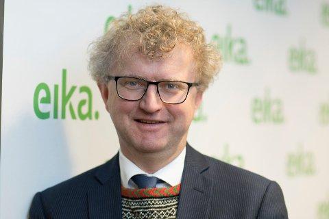 Sjeføkonom Jan Andreassen i Eika Gruppen tror på vedvarende lave renter i Norge og utlandet. Foto: Foto: Eika Gruppen