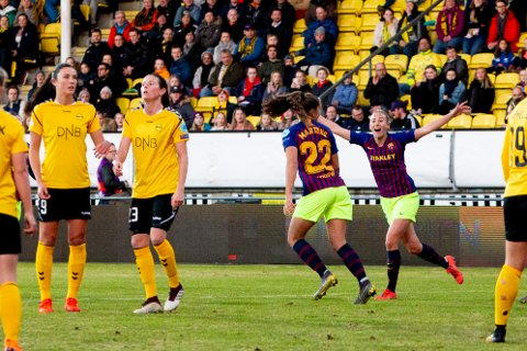UTKLASSET: Igjen ble LSK Kvinner et nummer for små i kampen mot Barcelona. Onsdag tapte de 1-0 hjemme. FOTO: NTB SCANPIX