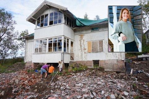 Totalrestaurert: Slik så det gamle huset ut i tidlig fase. Sluttresultatet er slående.