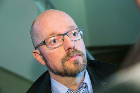 Petter Bonde forsvarer den tiltalte skuespilleren. Foto: Heiko Junge / NTB scanpix