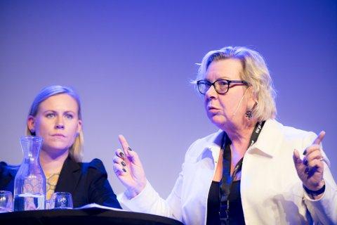 GALSKAP: Ordfører i Nittedal, Hilde Torkildsen holdt ingenting tilbake da hun gjestet Politiets Fellesforbund på Gardermoen onsdag ettermiddag.
