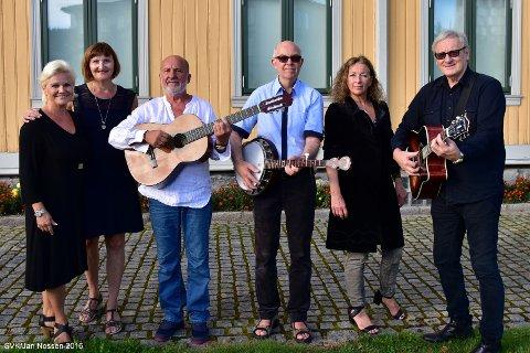 Skedsmo viseklubb synger under Byfesten. Her er noen av medlemmene som skal delta på torsdagens konsert. (fra venstre: Kathleen Pettersson, Hanne Eivindsen, Ronald Bjørn Nilsen, Roger Thoresen, Venche Paulsen og Bjørn Eggen),