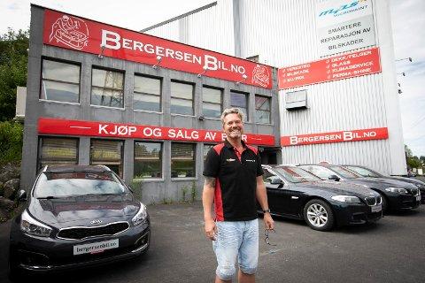 Per Bergersen i Bergersen Bil og Karosseri AS har doblet omsetningen det siste året.
