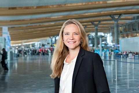 TAR OVER LEDELSEN: Stine R. Westby blir ny direktør ved Oslo lufthavn.