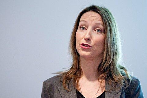 NØYER SEG MED TO? Sjeføkonom Kjersti Haugland i DNB Markets tror Norges Bank kommer med nye signaler og nøyer seg med to renteøkninger. Foto: Thomas Winje Øijord (NTB scanpix)