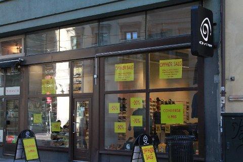 PPHØRSSALG: Grim var blant butikkene som måtte gi seg i fjor i Oslo sentrum. (Foto: Halvor Ripegutu)