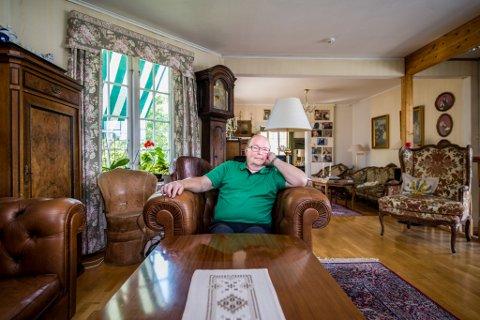 45 ÅR: Erik Ruste har bodd i huset i Skedsmogata i 45 år. Det var hans besteforeldre som bygde huset.