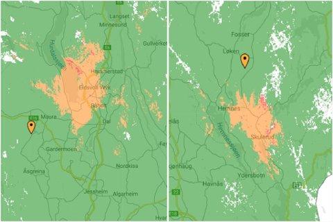 PROBLEMER: Telia har onsdag hatt problemer med basestasjoner både i Eidsvoll og Hemnes i Aurskog-Høland.