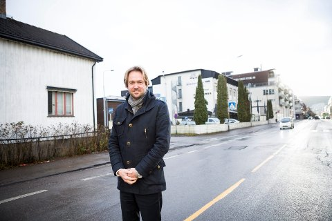 Eiendomsutvikler Borger Borgenhaug i Axer Eiendom i Lillestrøm mens Fagerborg hotell fortsatt sto der.