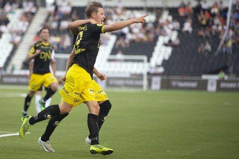 Jubelen stilnet: Kristoffer Ødemarksbakken ga LSK ledelsen, men måtte se seieren glippe. Foto: NTB scanpix