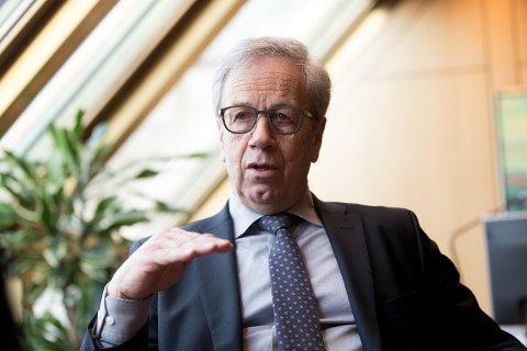 DET BLE RENTEØKNING: Sentralbanksjef Øystein Olsen og Norges Bank satte opp styringsrenten med 0,25 prosentpoeng.